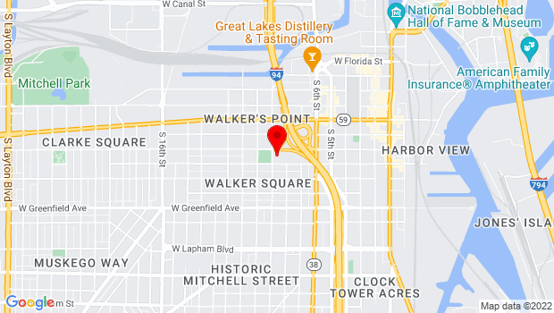 Google Map of 1028 S. 9th Street, Milwaukee, WI 53204
