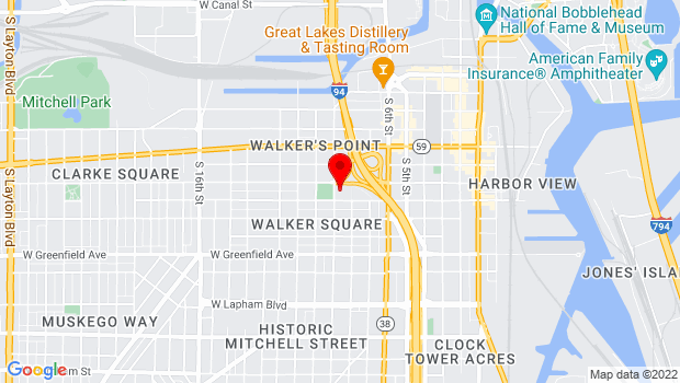 Google Map of 1028 South 9th Street, Milwaukee, WI 53204