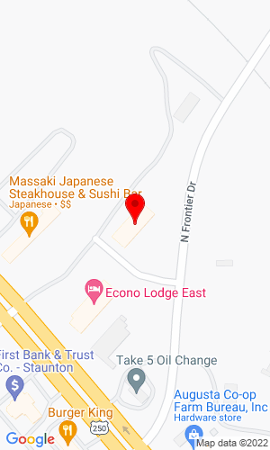 Google Map of Staunton Tractor, Inc. 1029 Richmond Avenue, Staunton, VA, 24401