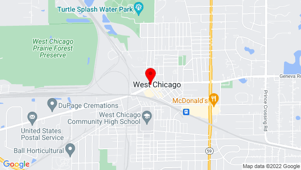Google Map of 103 W. Washington St., West Chicago, IL