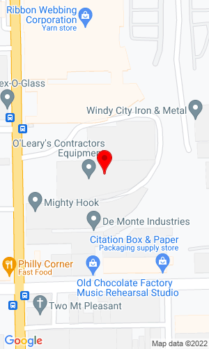 Google Map of O'Leary's Contractors Equipment Supply 1031 N Cicero Ave, Chicago, IL, 60639
