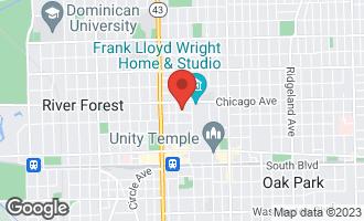 Map of 1032 Superior Street OAK PARK, IL 60302