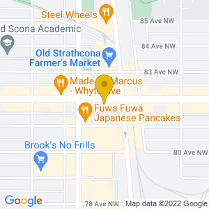 Map to Blues on Whyte provided by Google