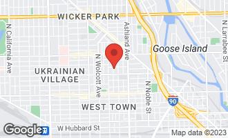 Map of 1033 North Hermitage Avenue CHICAGO, IL 60622