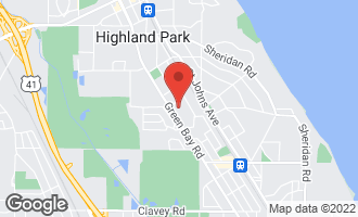 Map of 1035 Green Bay Road HIGHLAND PARK, IL 60035
