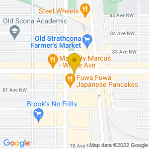 Map to The Almanac provided by Google
