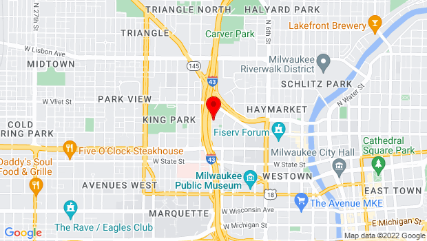 Google Map of 1037 W McKinley Ave, Milwaukee, WI 53205