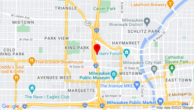 Google Map of 1037 West Juneau Avenue, Milwaukee, WI 53233