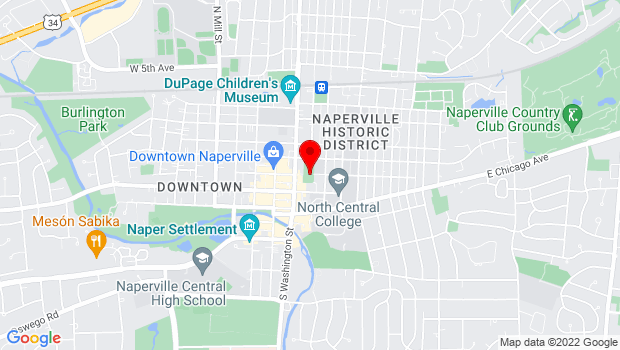 Google Map of 104 E. Benton Ave., Naperville, IL