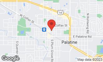 Map of 104 North Plum Grove Road #203 PALATINE, IL 60067