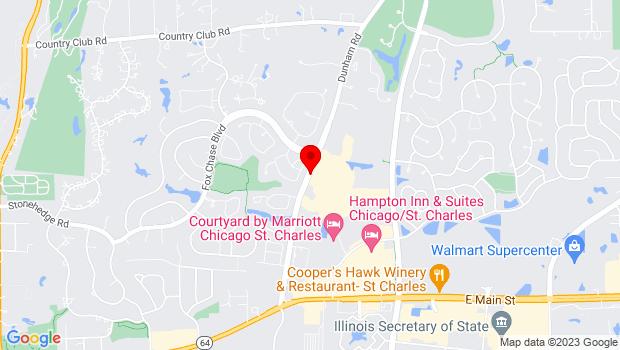 Google Map of 1040 Dunham Road, IL