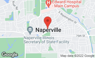 Map of 1040 Alder Lane NAPERVILLE, IL 60540