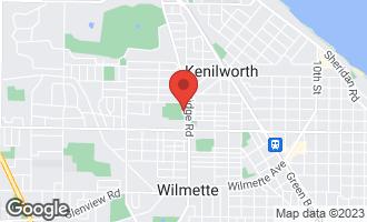 Map of 1041 Ridge Road #514 WILMETTE, IL 60091