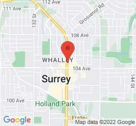 Google Map of 10454+King+George+Highway%2CSurrey%2CBritish+Columbia+V3T+2W8