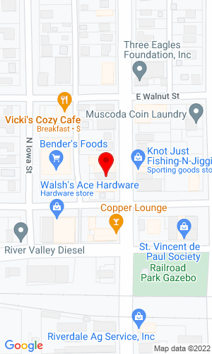 Google Map of Wilkinson Auction Company 105 North Wisconsin Avenue, Muscoda, WI, 53573