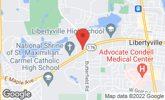 Map of 105 Harding Avenue LIBERTYVILLE, IL 60048