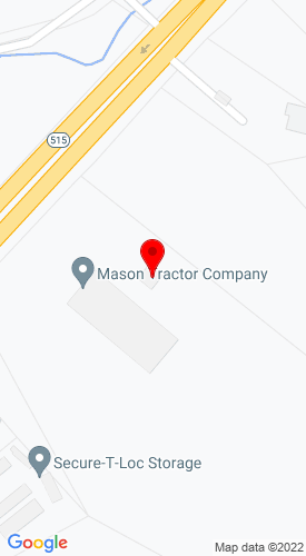 Google Map of Mason Tractor Company 1050 Appalachian Hwy., Blue Ridge, GA, 30513