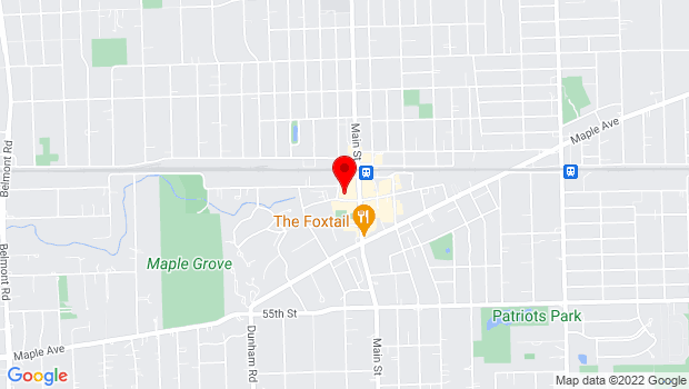 Google Map of 1050 Curtiss Street, Downers Grove, IL 60515