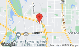 Map of 1050 Ferndale Street GURNEE, IL 60031