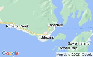Map of Gibsons RV Resort