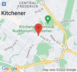 Google Map of 1051+King+Street+East%2CKitchener%2COntario+N2G+2N1