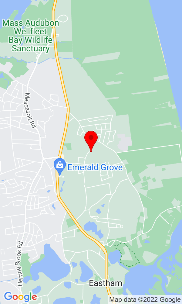 Google Map of1052 Old Orchard Road Eastham MA