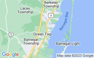 Map of Cedar Creek Campground
