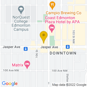 Map to The Station on Jasper provided by Google