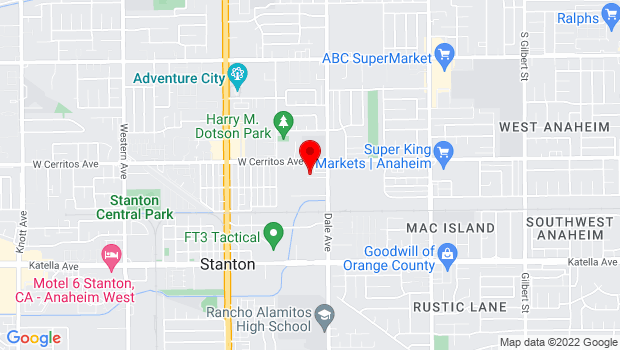 Google Map of 10533 Dale Ave, Stanton, CA 90680