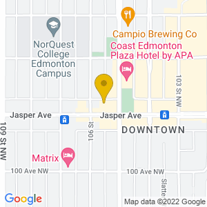 Map to The Bower provided by Google