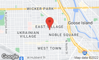 Map of 1059 North Wood Street CHICAGO, IL 60622
