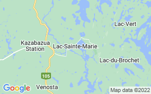 Map of Camping Municipal De Lac-Sainte-Marie