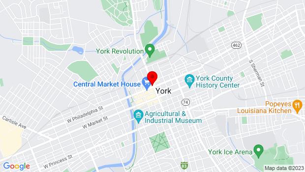 Google Map of 106 N George Street, York, PA