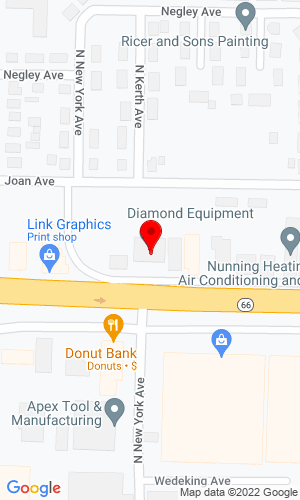 Google Map of 1060 E Diamond Avenue+Evansville+IN+47711