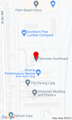 Google Map of Vermeer Southeast Sales & Service, Inc. 1060 West Industrial Avenue, Boynton Beach, FL, 33462