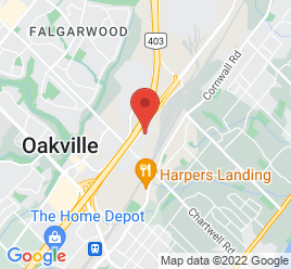 Google Map of 1064+South+Service+Rd+E%2COakville%2COntario+L6J+2X7