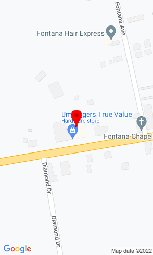 Google Map of Umberger's of Fontana, Inc. 1067 Horseshoe Pike, Lebanon, PA, 17042