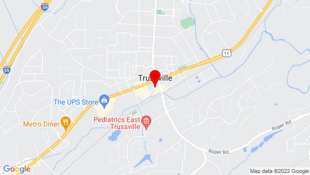 Google Map of 107 Morrow Ave, Trussville, AL 35173