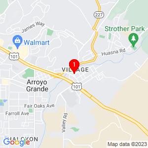 Google Map of 107 Nelson Street • Arroyo Grande CA 93420