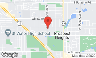Map of 107 North Schoenbeck Road PROSPECT HEIGHTS, IL 60070