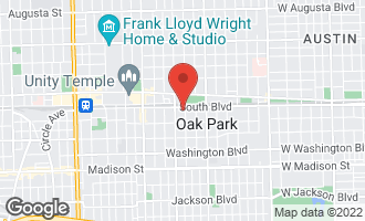 Map of 107 South Scoville Avenue OAK PARK, IL 60302