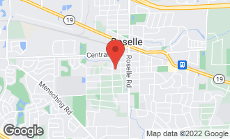Map of 107 West Maple Avenue ROSELLE, IL 60172