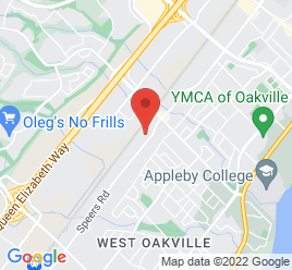 Google Map of 1071+Speers+Road%2COakville%2COntario+L6L+2X5