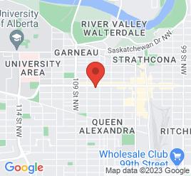 Google Map of 10727+-+82+Avenue%2CEdmonton%2CAlberta+T6E+2B1