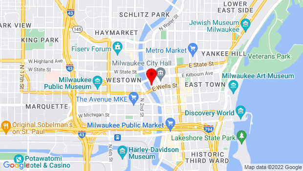 Google Map of 108 E. Wells St., Milwaukee, WI 53202