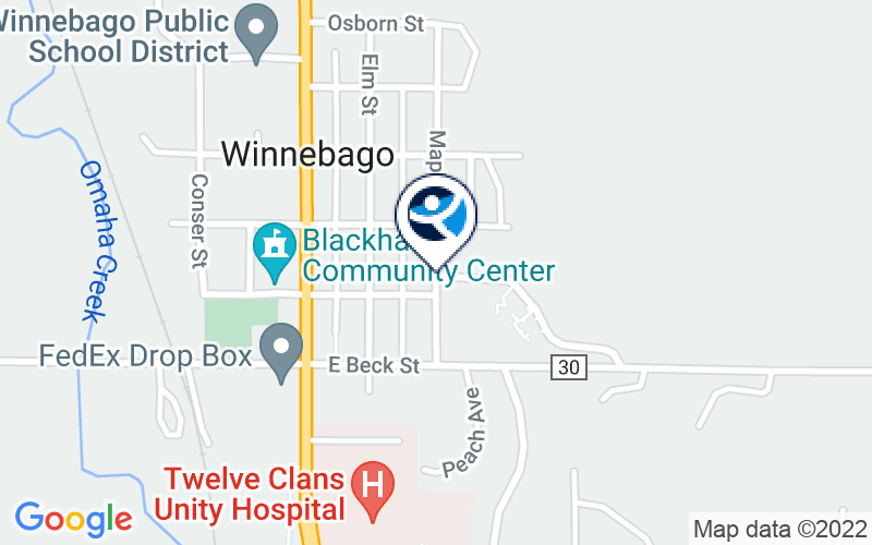 Winnebago Tribe of Nebraska American Indian Human Resources Ctr Location and Directions