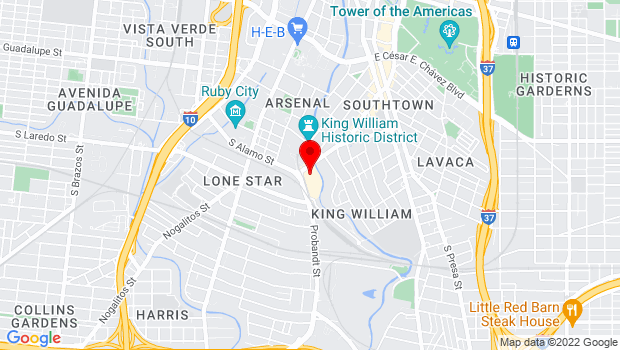 Google Map of 108 Blue Star, #1773, San Antonio, TX 78204