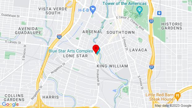 Google Map of 108 Blue Star, San Antonio, TX 78204