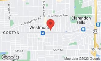Map of 108 East Burlington Avenue Westmont, IL 60559