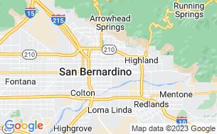 Map of San Bernardino RV Park